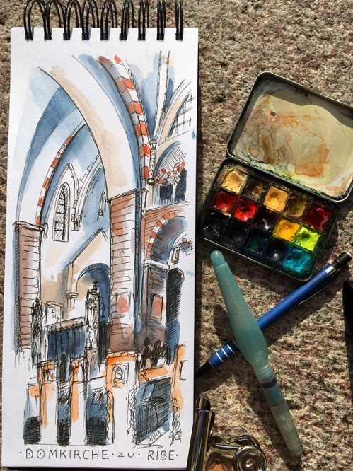 """2918 Ribe Cathedral Interior"" original fine art by Dietmar Stiller"