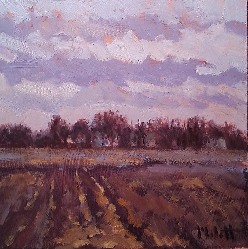 """Buttery Cinnamon Autumn Landscape Original Oil Painting"" original fine art by Heidi Malott"