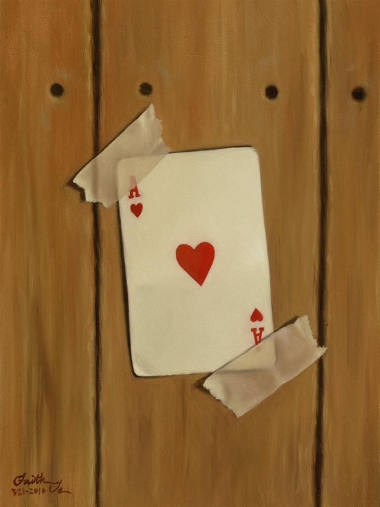 """Ace of Hearts"" original fine art by Faith Te"