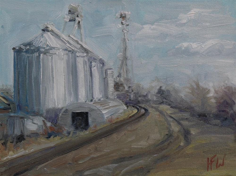 """""""Industrial scenery"""" original fine art by H.F. Wallen"""