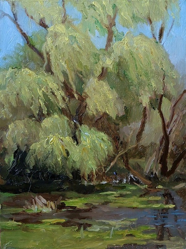 """Moraine Hills - Willow"" original fine art by Edward Watson"