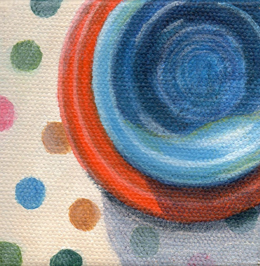 """Round and Round"" original fine art by Debbie Shirley"