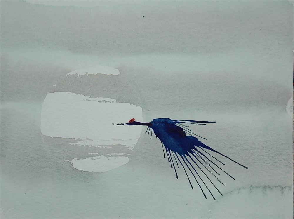 """Crane - 1"" original fine art by Ulrike Schmidt"