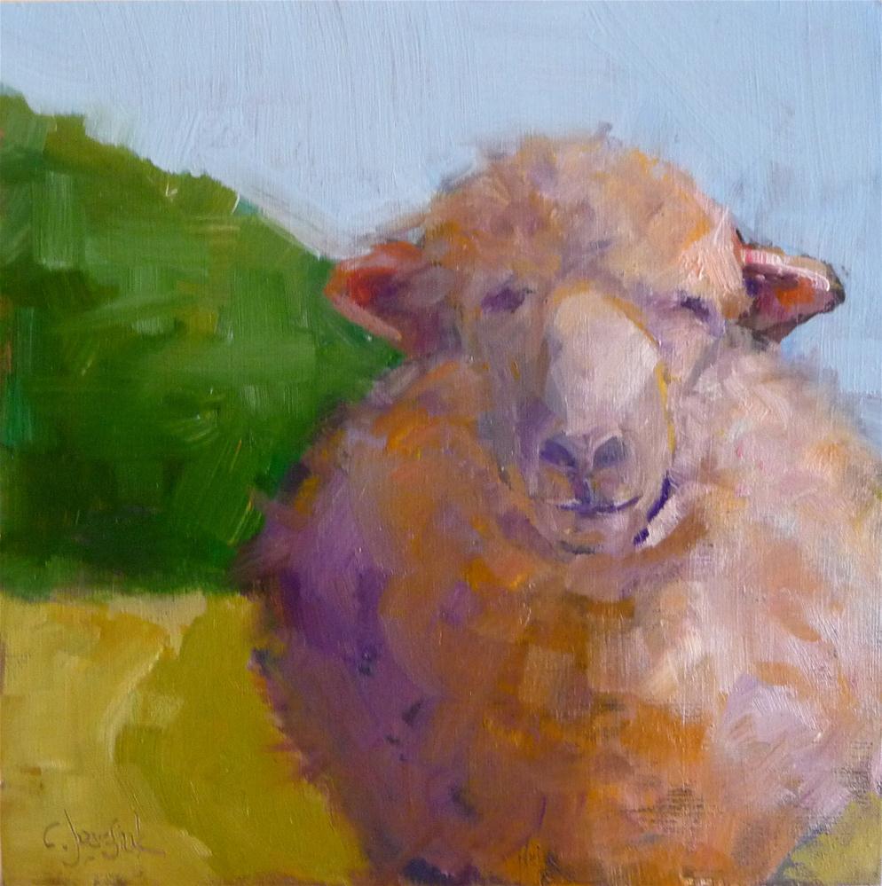 """Time to Shear"" original fine art by Carol Josefiak"