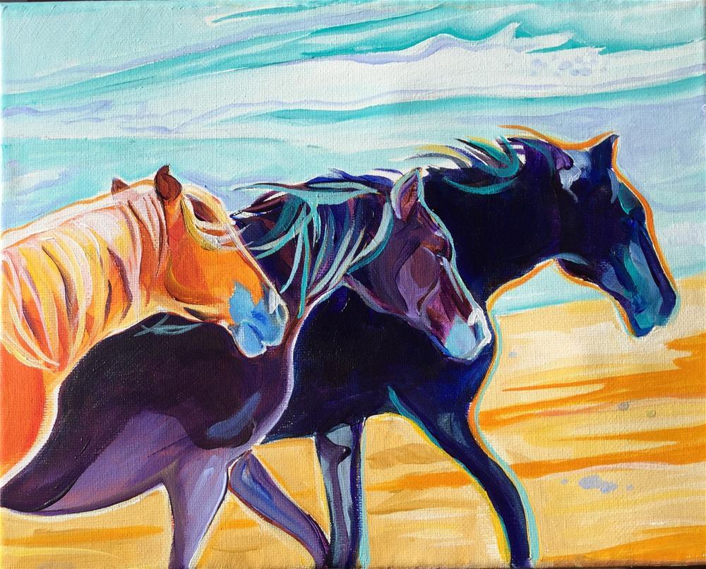 """Prismatic Parade"" original fine art by Lauren Kuhn"