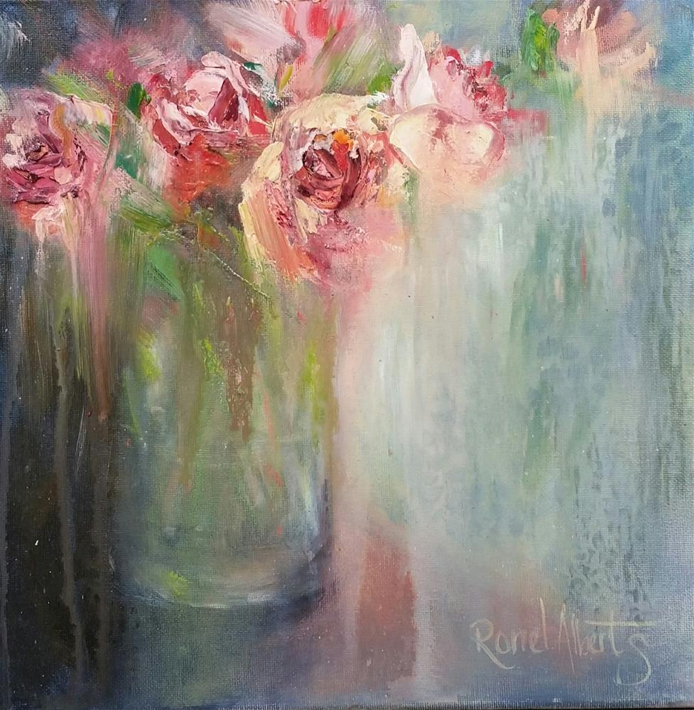 """Backlit roses"" original fine art by Ronel Alberts"