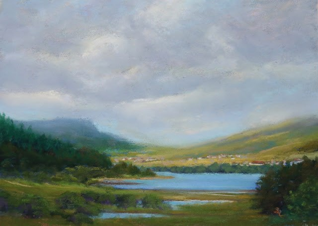 """Mist Over the Hills"" original fine art by Sharon Lewis"
