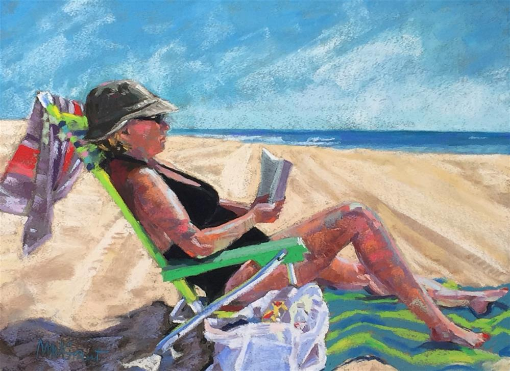 """Beach Novel"" original fine art by Michelle Wells Grant"
