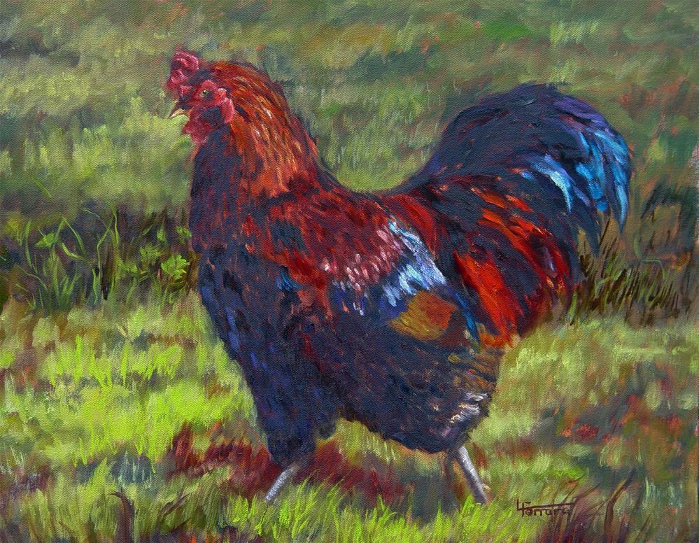 """Field Strut"" original fine art by Lina Ferrara"