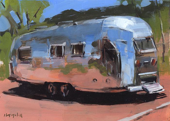 """Airstream at Palo Duro"" original fine art by David Lloyd"