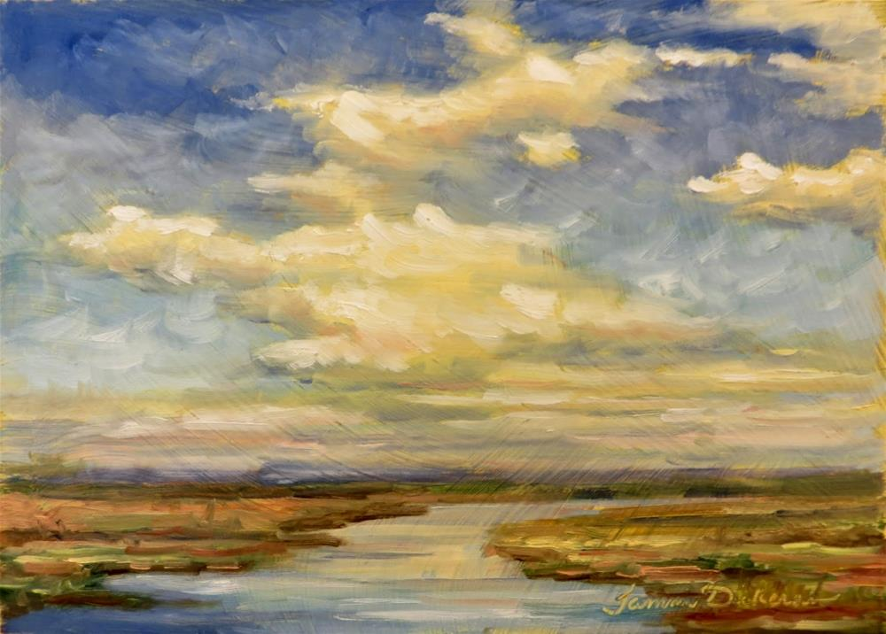 """Clouds Over the Inlet"" original fine art by Tammie Dickerson"