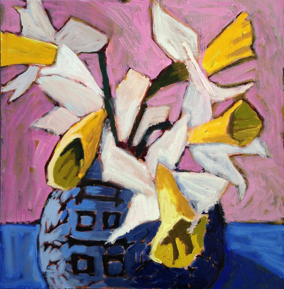 """Time Market Daffodils"" original fine art by Pamela Hoffmeister"