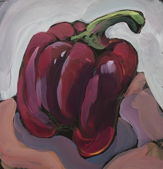 """Pepper Power!"" original fine art by Kat Corrigan"