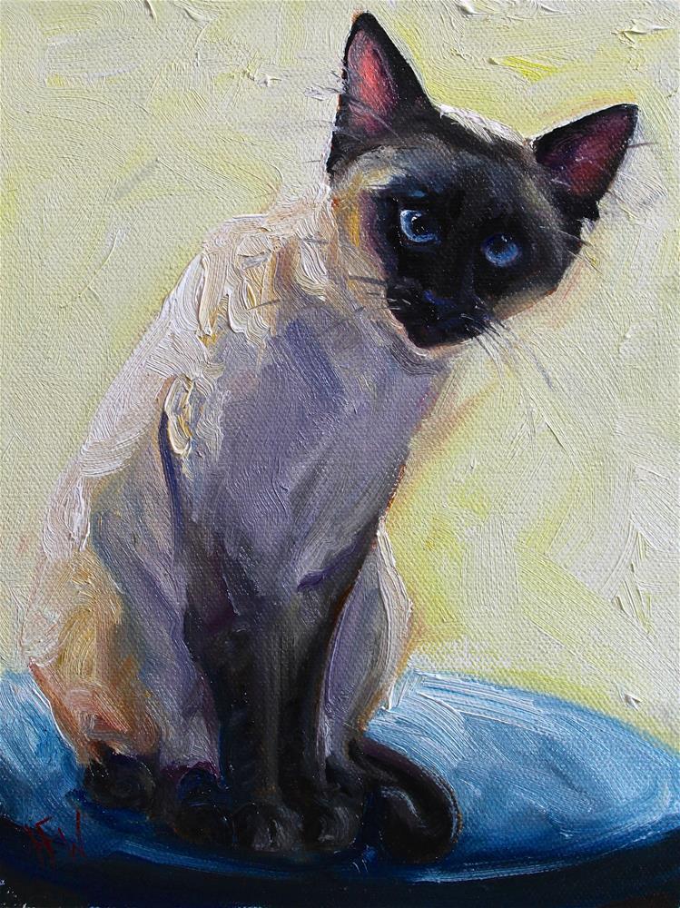 """""""Siamese"""" original fine art by H.F. Wallen"""