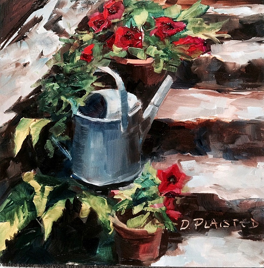 """""""Medieval House Stairs"""" original fine art by Diane Plaisted"""