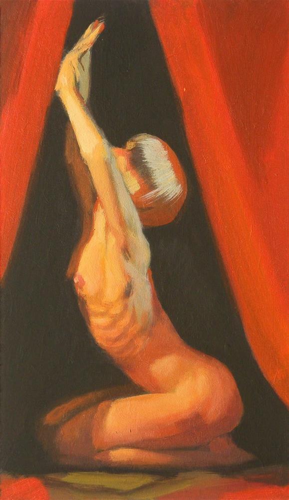 """Kneeling"" original fine art by Peter Orrock"