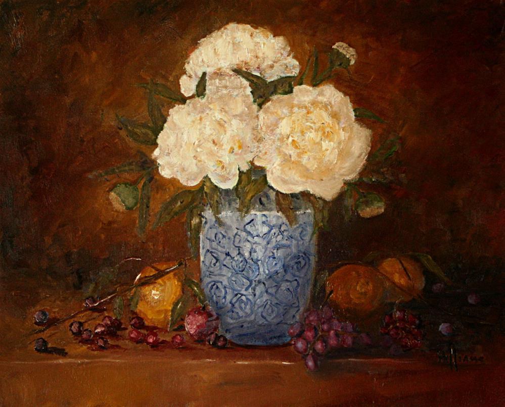 """White Peonies"" original fine art by Sunny Williams"