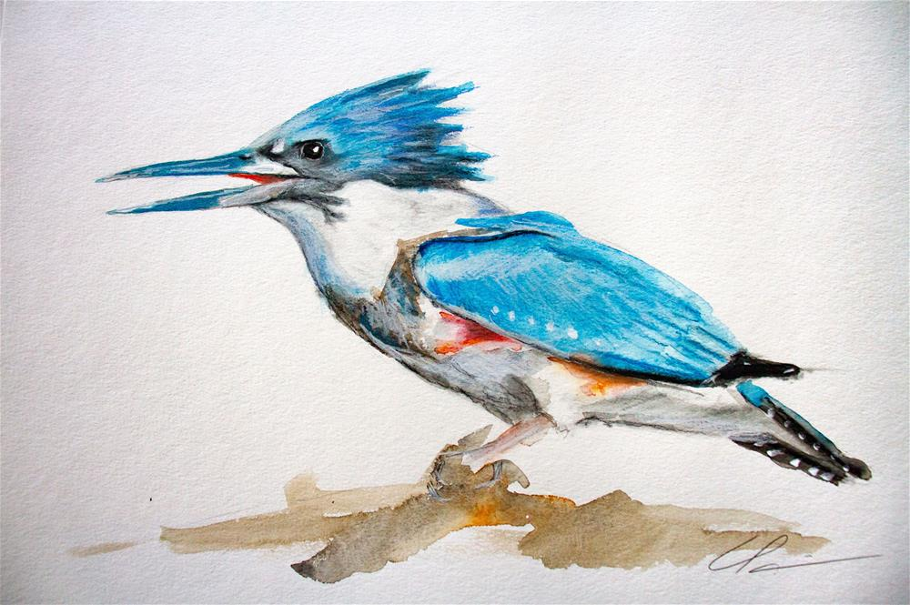 """Kingfisher"" original fine art by Clair Hartmann"
