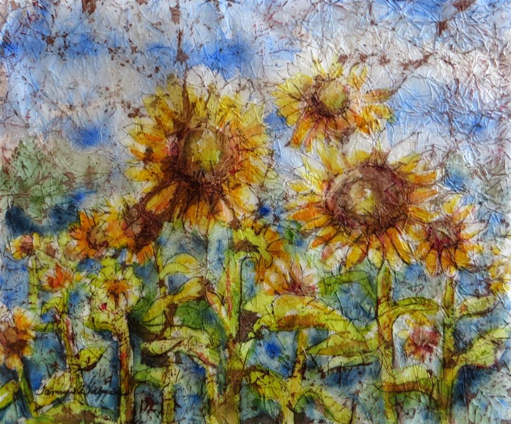 """High Noon Sunflowers"" original fine art by Tammie Dickerson"