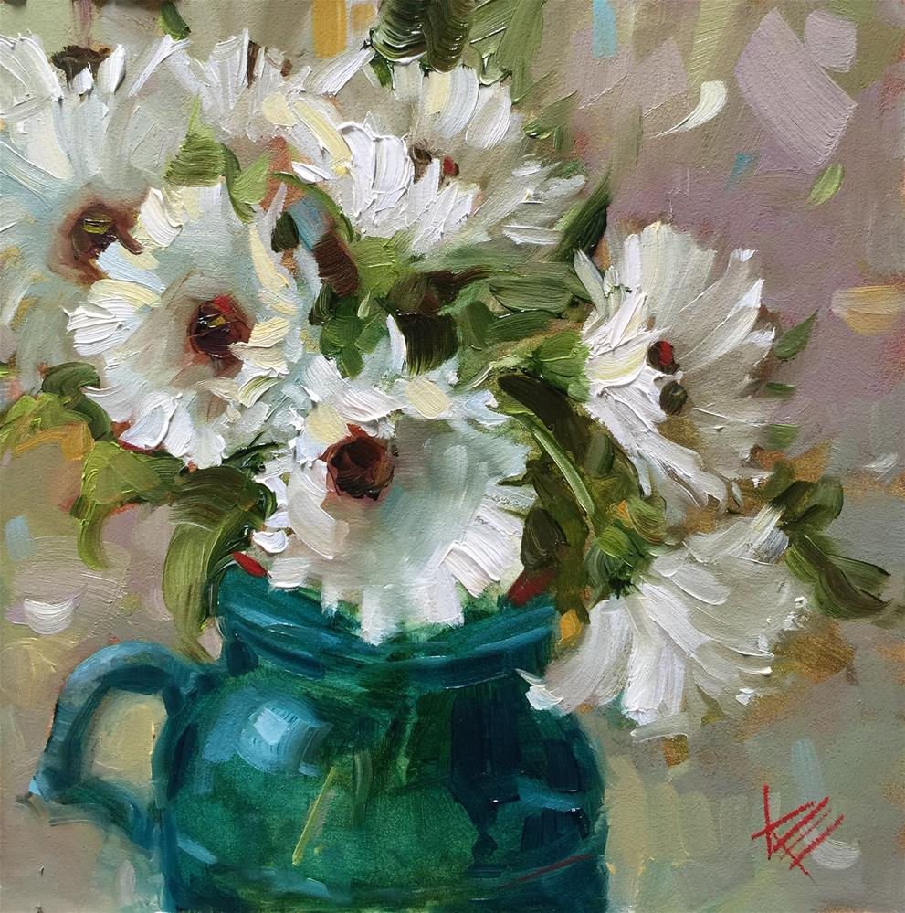"""Dancing Daisies"" original fine art by Krista Eaton"
