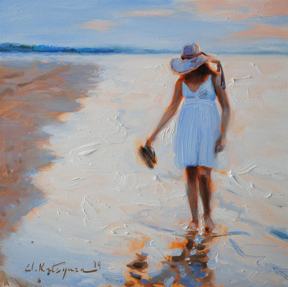 """By the Shoreline"" original fine art by Elena Katsyura"