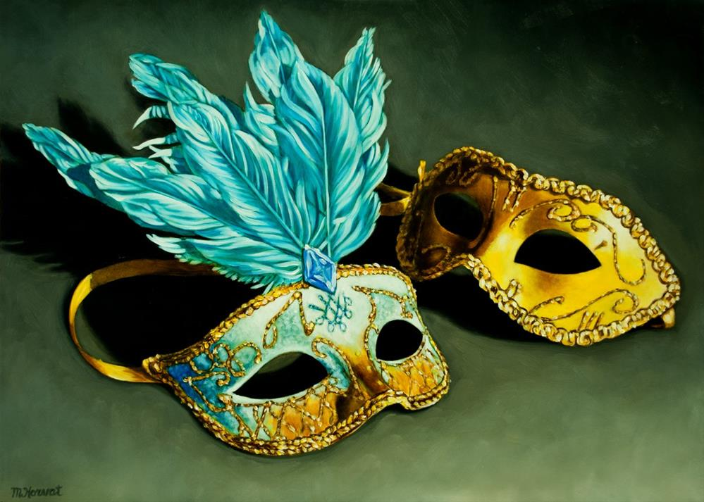 """Masquerade"" original fine art by Margaret Horvat"