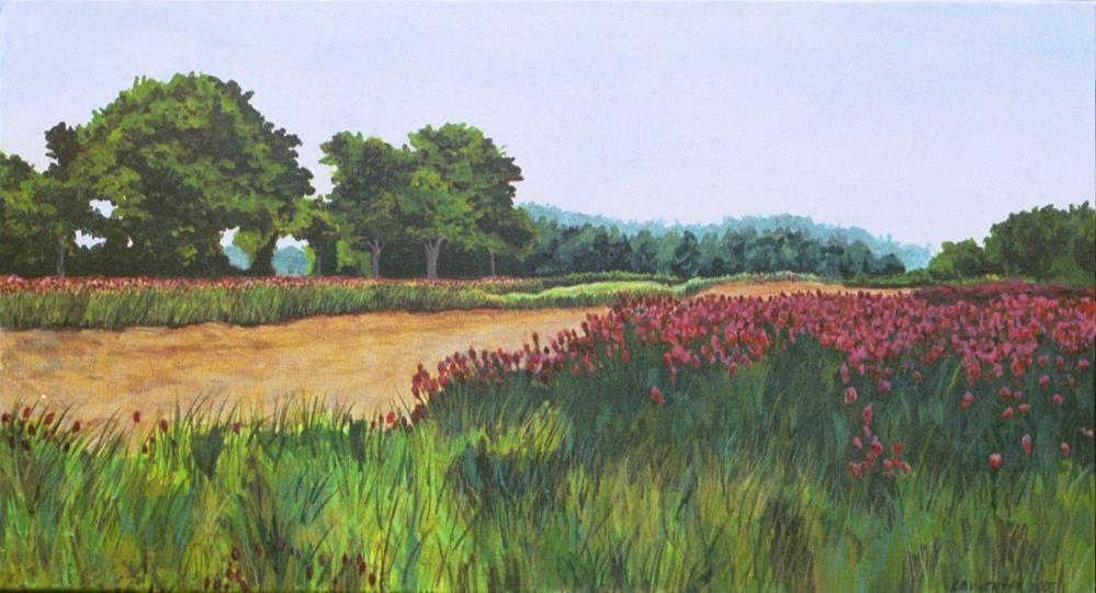 """Bush Neck Farm, Williamsburg, VA"" original fine art by Lisa Wiertel"