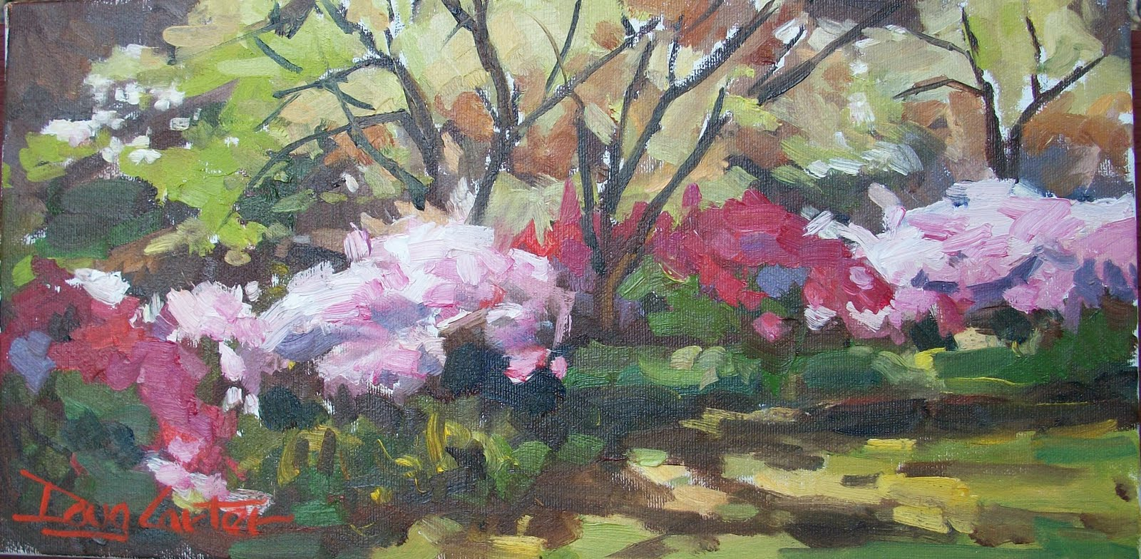 """Azalea Garden"" original fine art by Doug Carter"