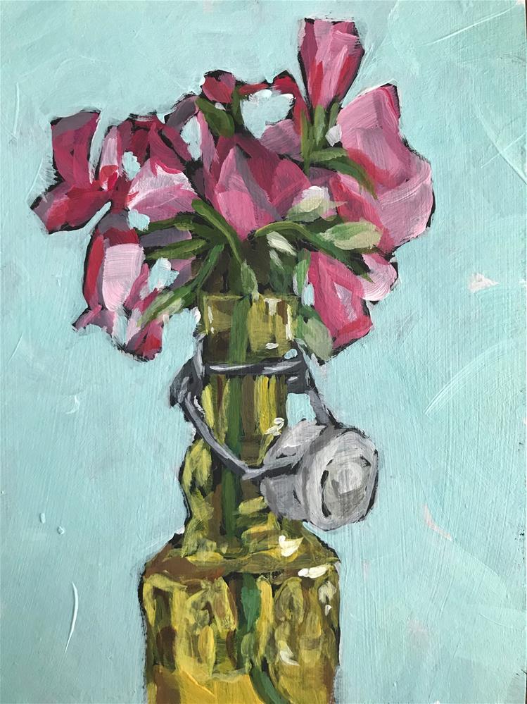 """Yellow Vase"" original fine art by Gina Garding"