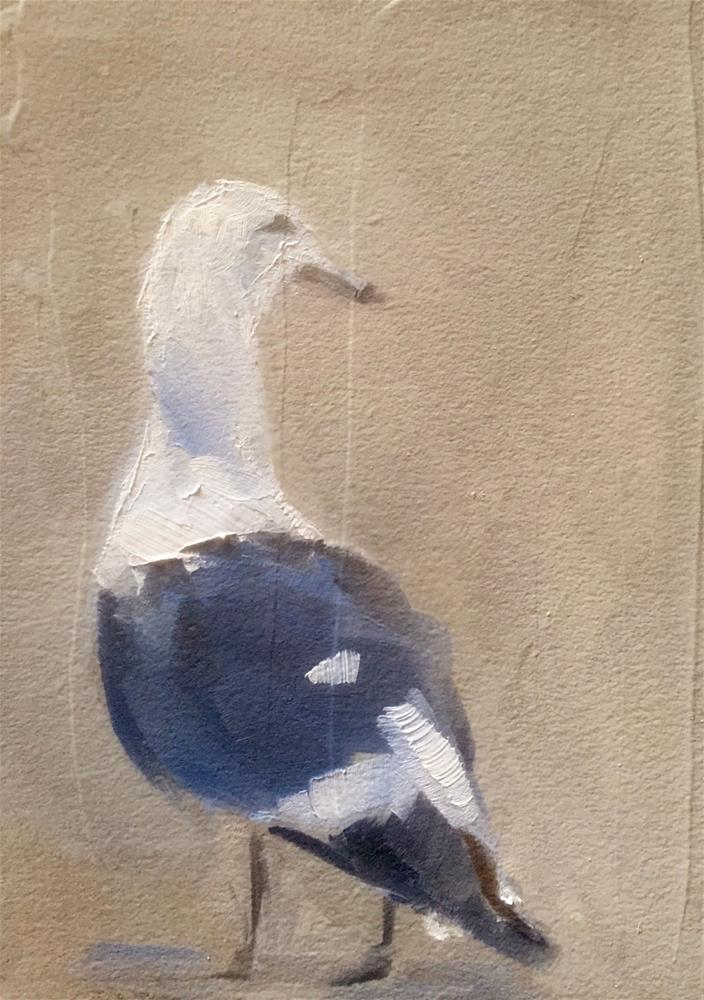 """Gull at Dusk"" original fine art by Gary Bruton"
