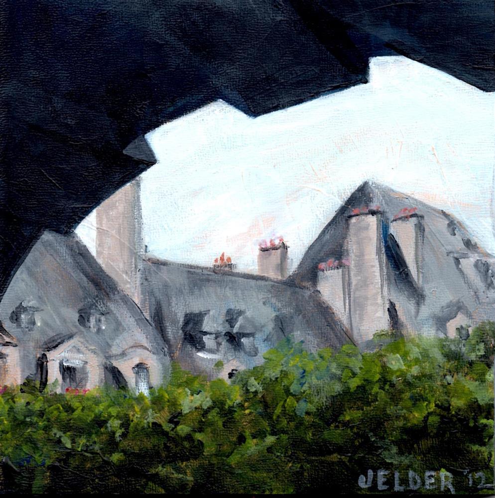 """Strolling By Place des Vosges"" original fine art by Judith Elder"