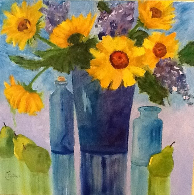 """YOU ARE MY SUNSHINE X6"" original fine art by Charlotte Bankhead Hedrick"