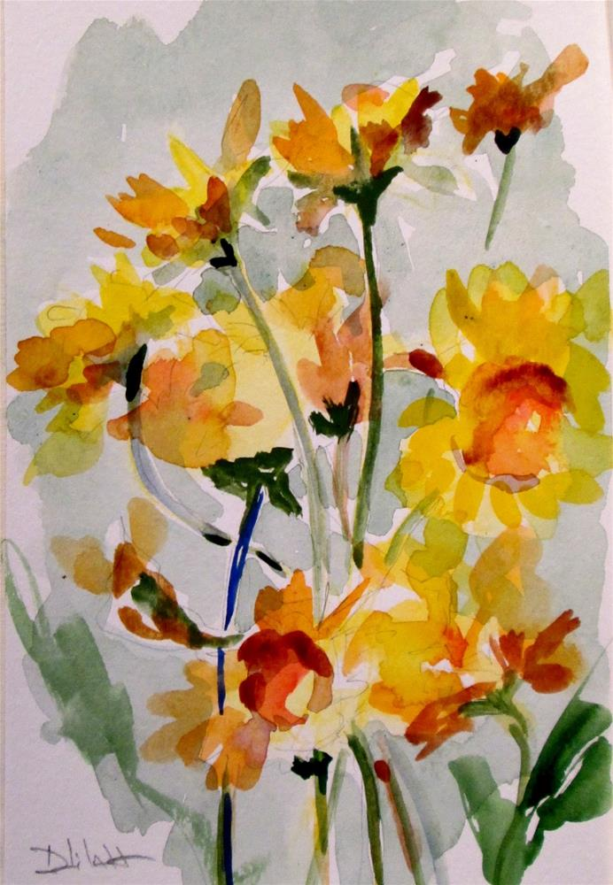 """Sunflowers"" original fine art by Delilah Smith"