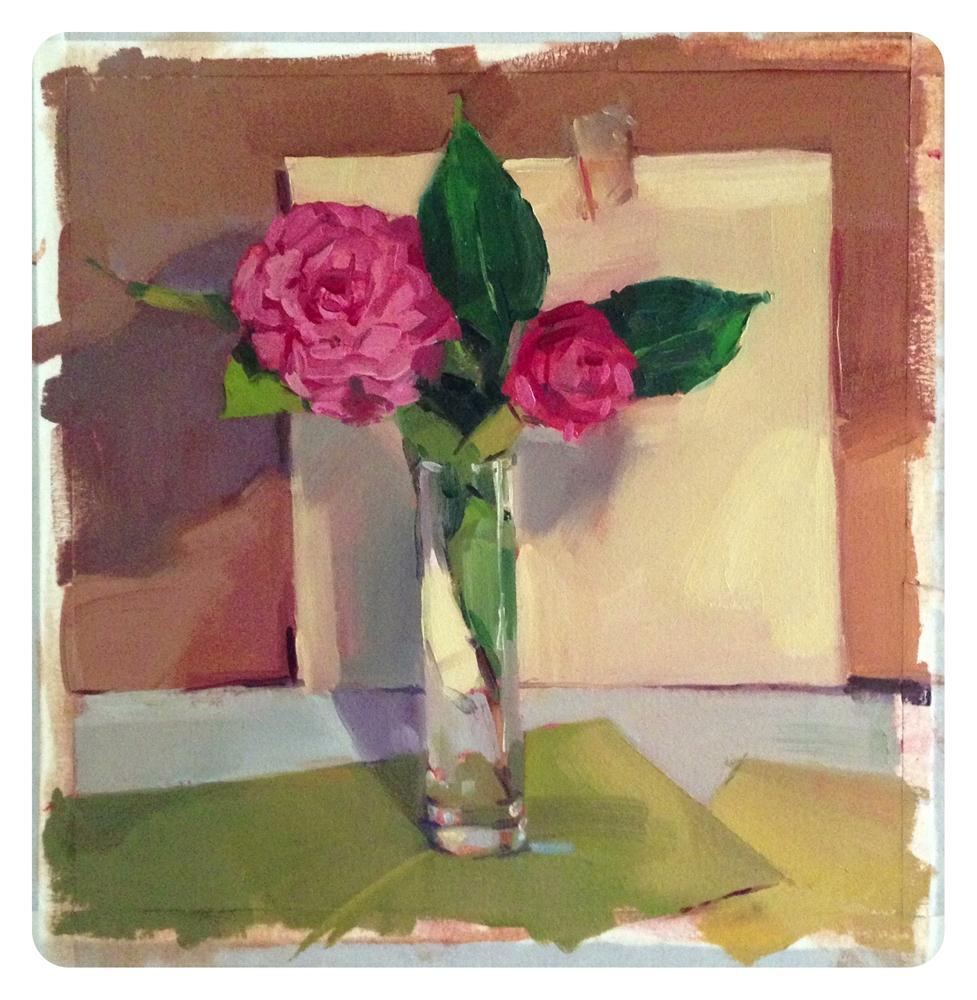 """Red Camellia Sketch"" original fine art by Sarah Sedwick"