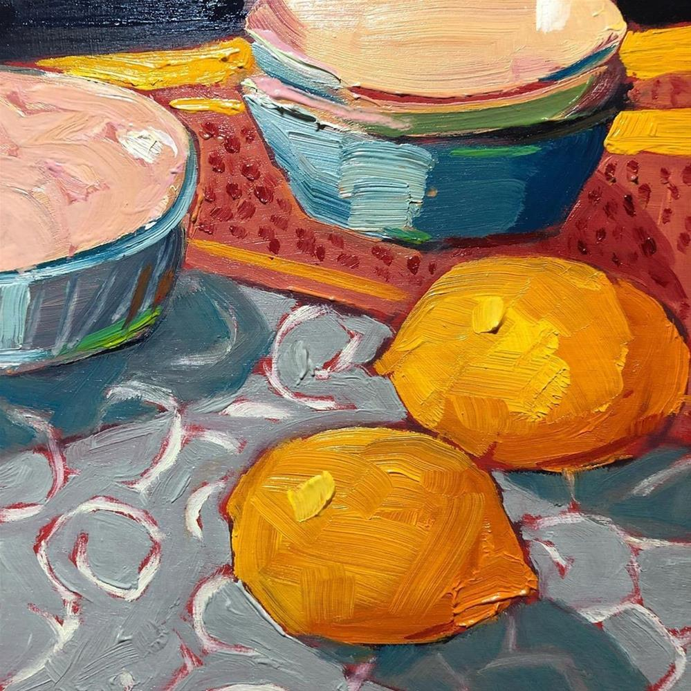 """1269: Two Lemons and a Few Bowls"" original fine art by Brian Miller"