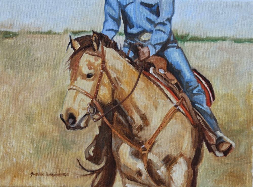 """In the Arena     9 x 12 inches"" original fine art by Susan Ashmore"