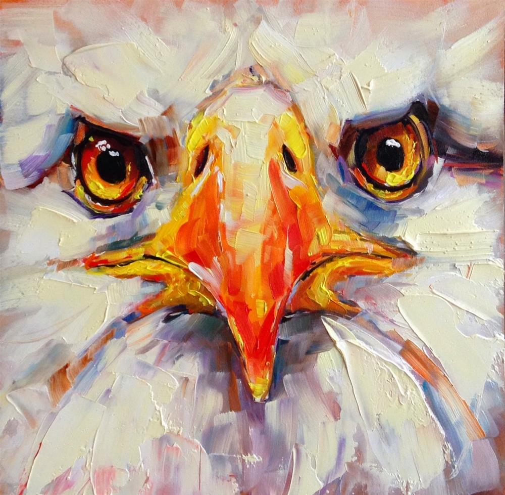 """ORIGINAL CONTEMPORARY BALD EAGLE PAINTING by OLGA WAGNER"" original fine art by Olga Wagner"