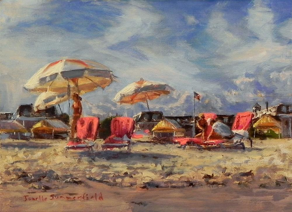 """Partly Cloudy Day at Cape May"" original fine art by Jonelle Summerfield"