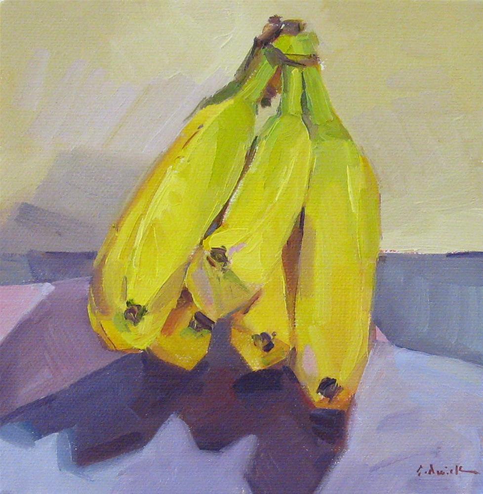 """""""Simply Bananas"""" original fine art by Sarah Sedwick"""