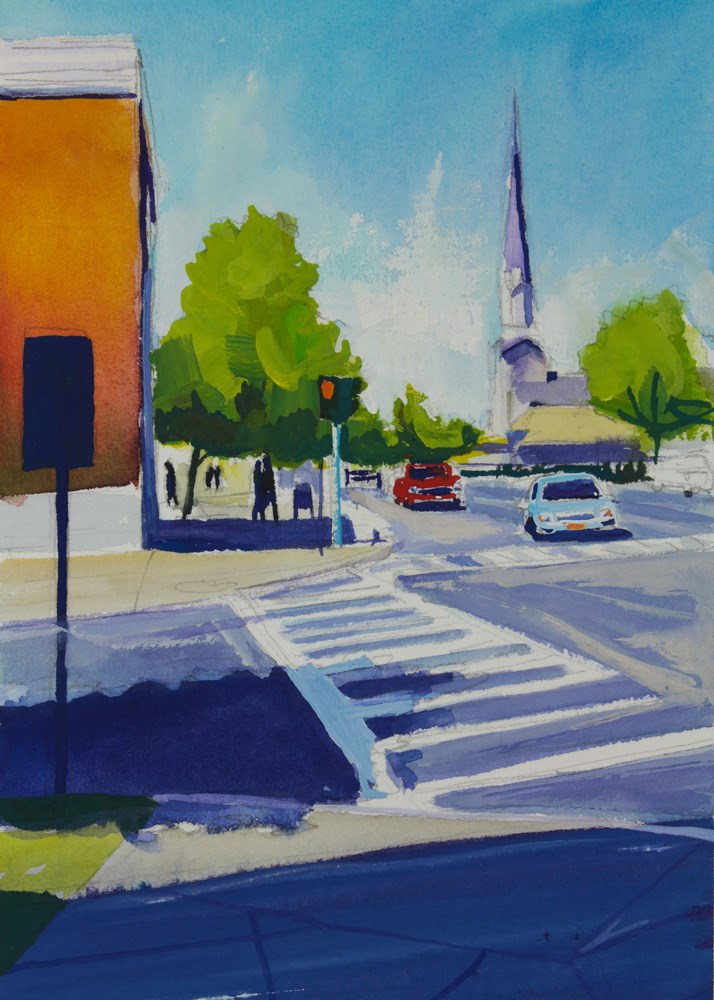 """Main & Cayuga"" original fine art by Chris Breier"