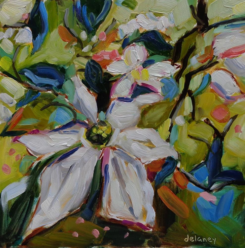 """FLOWER FOR A FLOWER"" original fine art by Jean Delaney"