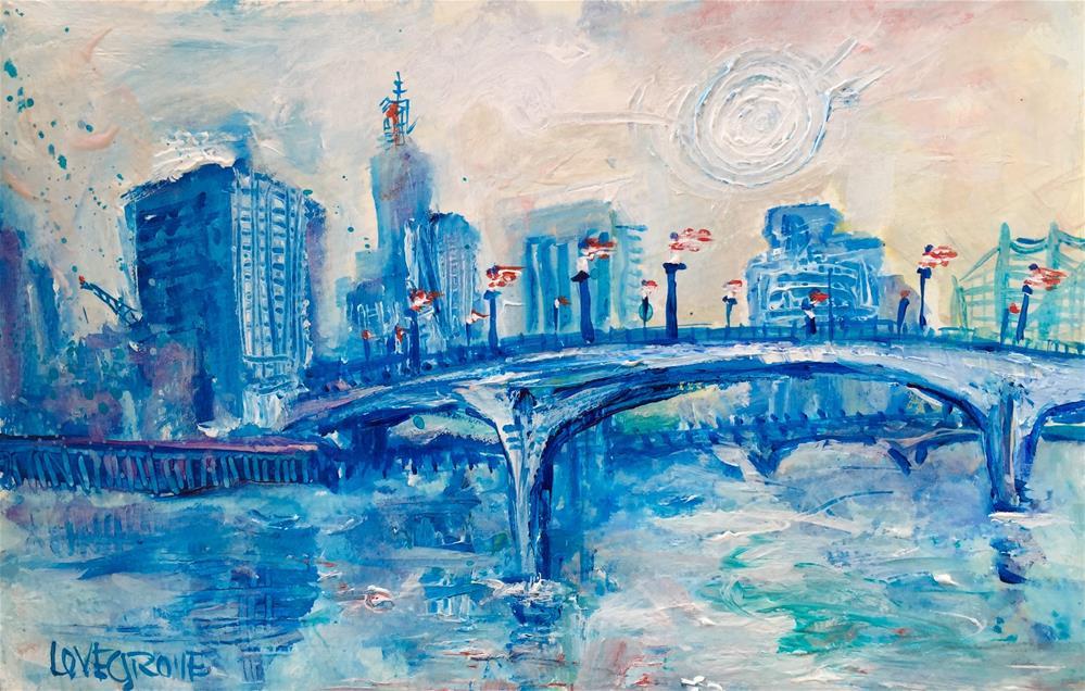 """America Over St. Paul"" original fine art by Leoma Lovegrove"