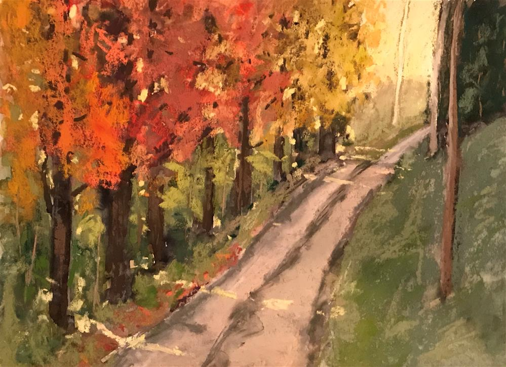 """road to my house last fall"" original fine art by Betty Argiros"