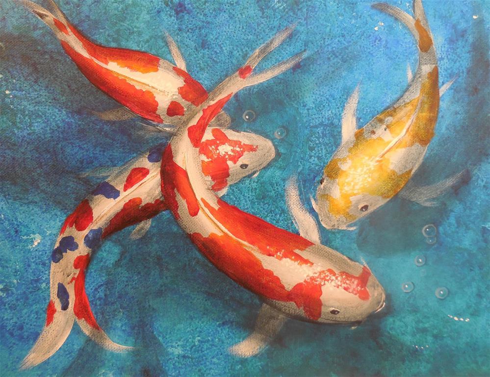 """Koi"" original fine art by Terri Nicholson"