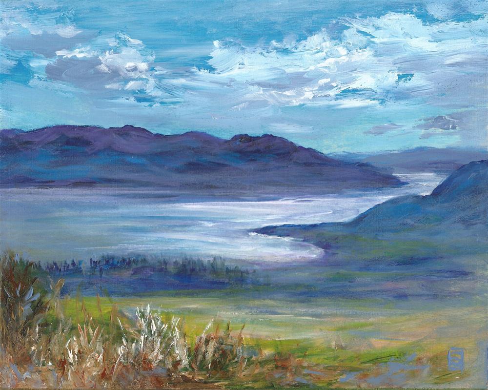 """6069 - Silvery Lake"" original fine art by Sea Dean"