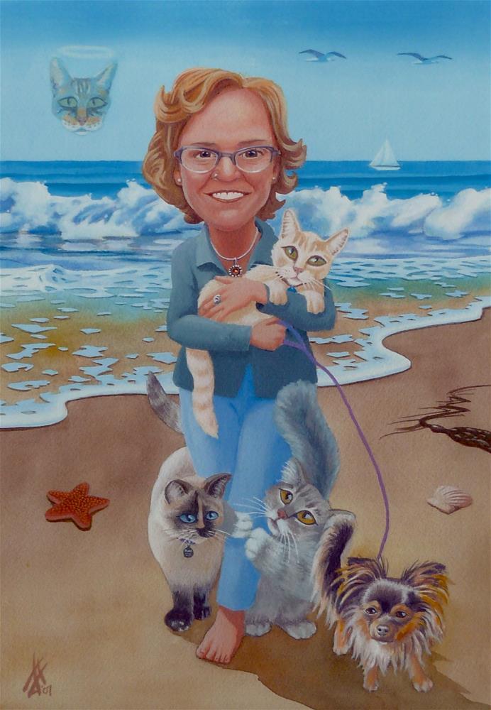 """Janine"" original fine art by Mark Allison"