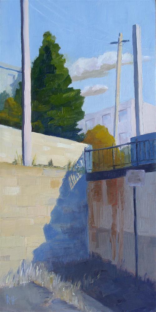 """Corner Shadows"" original fine art by Rebecca Helton"