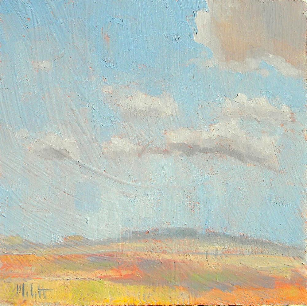 """Southwest Desert Sky  Clouds Contemporary Impressionism"" original fine art by Heidi Malott"
