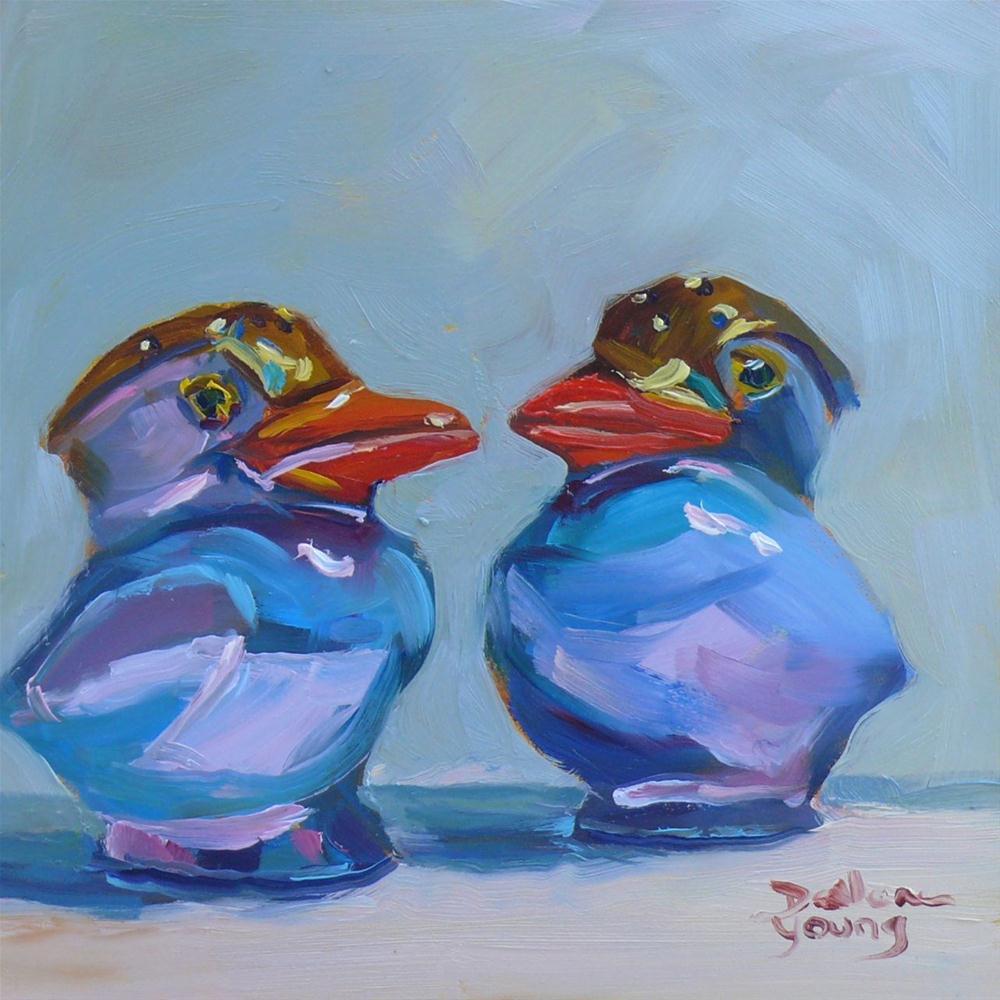 """Darling Duo"" original fine art by Darlene Young"