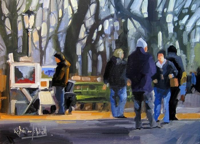 """No 787 Central Park Artist"" original fine art by Robin J Mitchell"